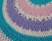 Special Order Reserved for AshD58         Sweet Baby Girl Round Blanket and Beanie Set