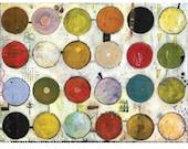 24 circles duck tree 17x22 print