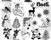 Sepia Decals for Glass Fusing and Ceramics - Christmas 3
