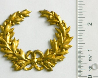 Stamped Brass Wreath for Stained Glass