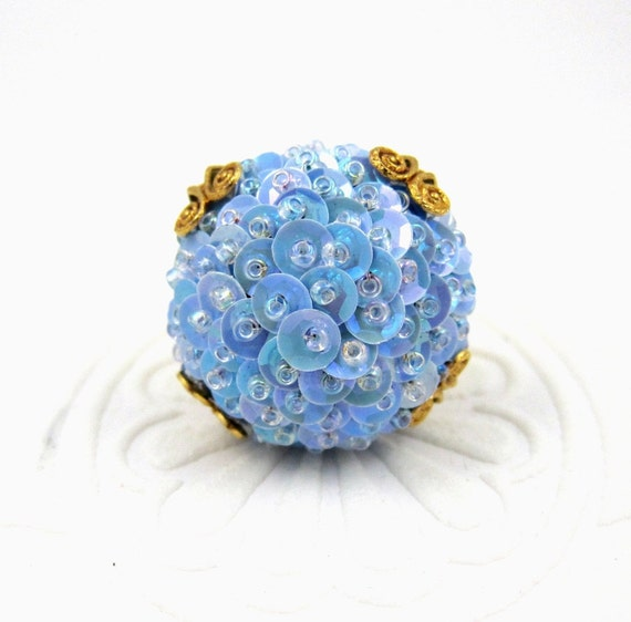 Periwinkle Sequin Ring