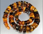 Art Deco Necklace Amber Graduated Chunky Bead Fossil Vintage 1930s Jewelry