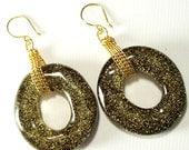 Lucite Golden Glam Earrings