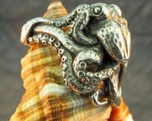 Silver Octopus Ring - martymagic