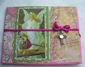 Catholic Guardian Angel Pink Handmade Reusable Card