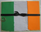 St Patricks Day Card Flag of Ireland Green White and Orange