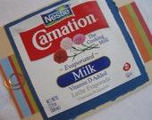 Carnation Evaporated Milk Label Handmade Reusable Card