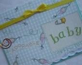 Handmade Card Baby Congratulations Boy or Girl Yellow Green