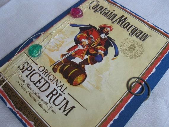 Captain Morgan Spiced Rum Label Handmade Reusable Card