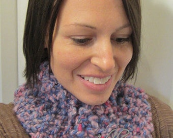 20 % OFF - Princess Rope Hand Knit Scarflette with Shawl Pin