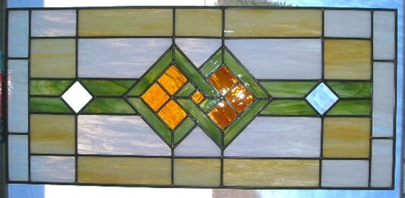Chicago Craftsman Prairie Style Stained Glass By