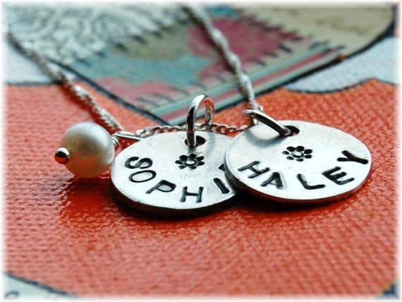My Sunshine...TWO charm personalized necklace with option for adding third charm