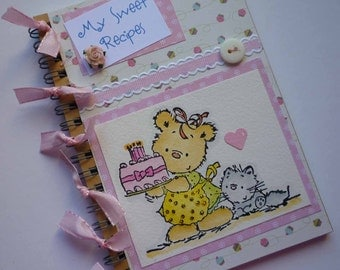 My Sweet Recipes - Sweet notebook with little bear and cake