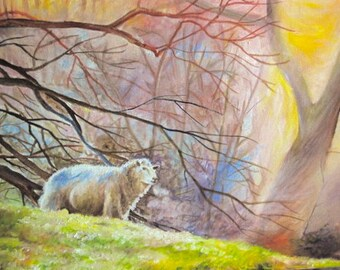 Cold Morning Landscape- Original Oil Painting