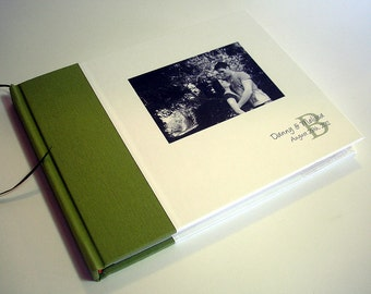 "Wedding Guest Book. Custom Wedding Guestbook. Personalized Guest Book. Wedding Guest Register. 6 x 8""."