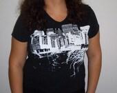 city roots shirt (womens, 2x, black)