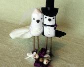 DIY Brides - Do It Yourself Wedding Cake Topper Kit - Make your own Bird Cake Topper