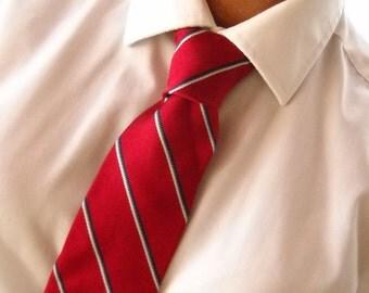 Vintage Tie Crimson Red Tie Striped Tie Vintage Necktie Bert Pulitzer Tie