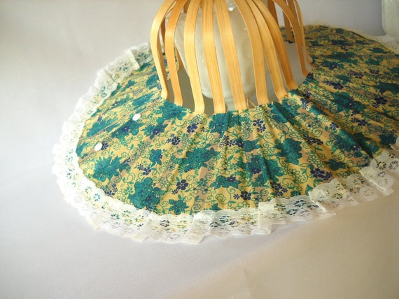 Vintage Fan Hat Folding Fan Hat Paper Hat Novelty Hat Floral Sun Hat Lace Bamboo Beach Fashion Travel Summer