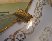 Vintage Porcelain and Gold Ashtray