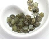Kyanite Round Flat Beads  (19) x 6mm  (18) x 10mm