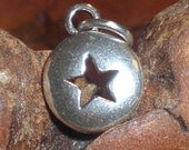Sterling Silver Domed Star Cut-Out Charm