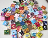 75 Scrabble Tile Pendants without Bails bulk lot - for crafting, jewelry, magnets, bookmarks, hair clips or necklaces