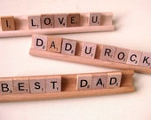 Scrabble Tile Desk Sign - Perfect Gift for Dad