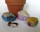 Painted Rock Gnome Home set of 3