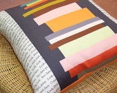 Free Shipping for Book Pillow with Back Pockets  linen/cotton 18x18