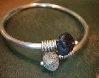 double beach stone bracelet