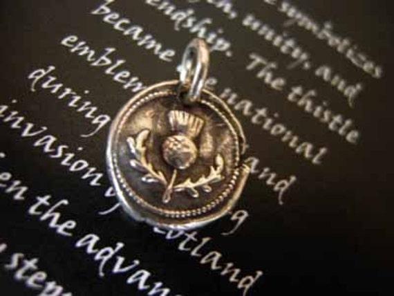 thistle wax seal pendant