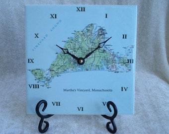 Nautical Chart Clock