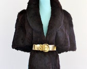 Reserved/ GeNuine RaBBit Fur WinTer Cape PonCho ShawL CapeLet OuTerWeaR JacKet CoaT . Large . XL . Plus Size . hanger