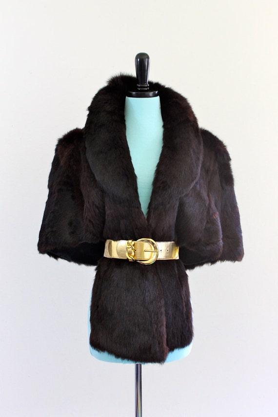 Reserved/ GeNuine RaBBit Fur WinTer Cape PonCho ShawL CapeLet OuTerWeaR JacKet CoaT . Large . XL . Plus Size . hanger