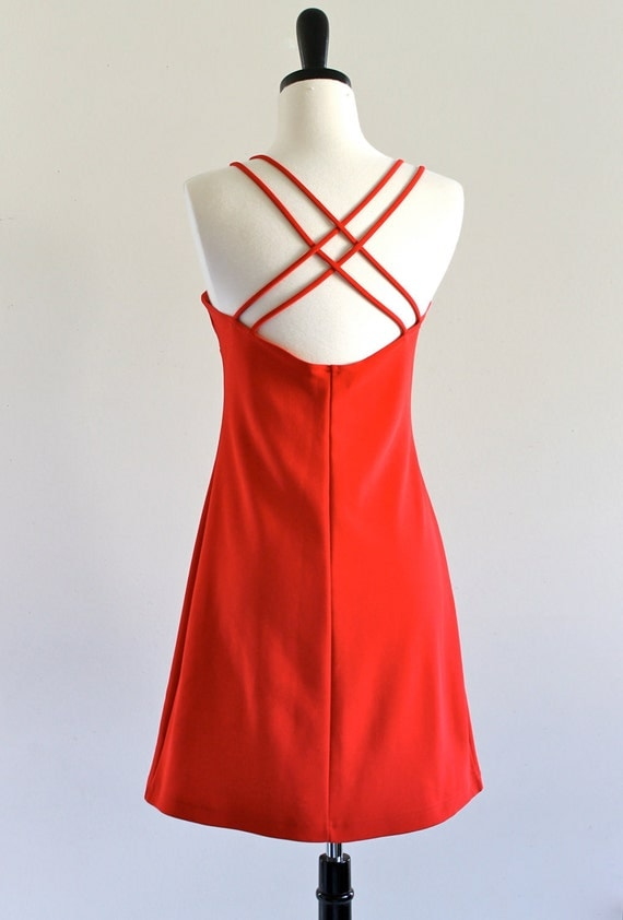 Red Cage Babydoll Bandage Mini Cocktail Prom Club Party Rocker Dress . ML . large . D150