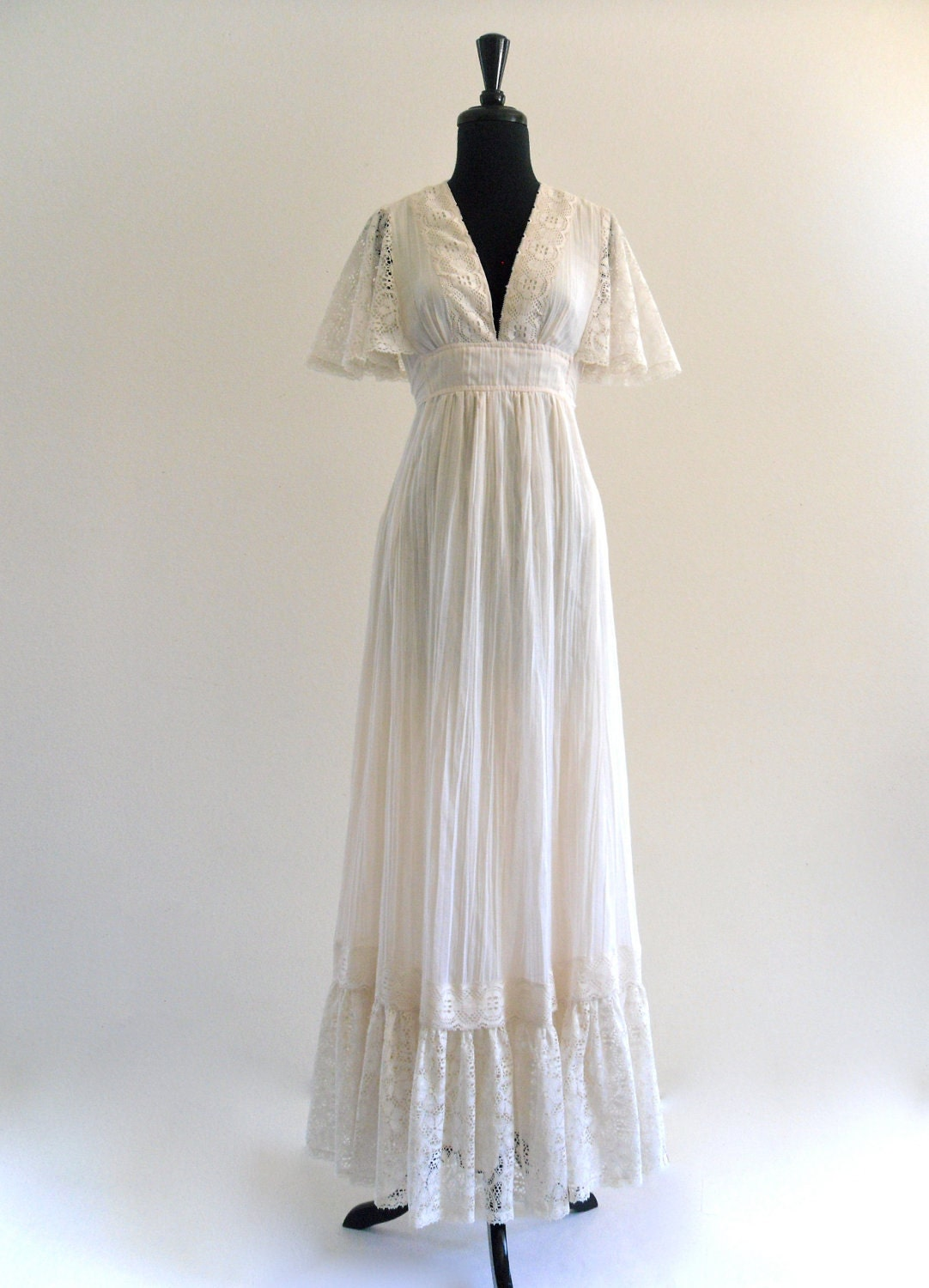 White Cotton Hippie Wedding Dresses buy wedding dress hippie