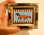 Animal Art ,WeazelCrow,Hybrid, Mini framed picture