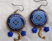 Once in a Blue Moon Bottle Cap Earrings
