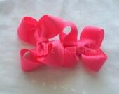 Hot Pink Toddler Hair Bow Set of 2