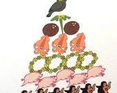 10 Hawaiian Christmas Cards - Pidgin Style