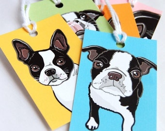 Boston Terrier Gift Tags - Set of 6