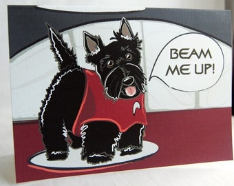 Beam Me Up - Scottie Greeting Card