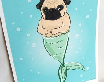 MerPug - Eco-Friendly 8x10 Print
