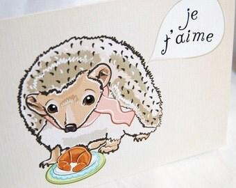Hedgehog in Love Greeting Card