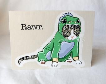 Lil Dragon Tabby Greeting Card