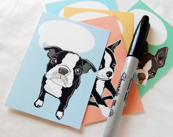 Convo Boston Terrier Valentines - Eco-friendly Set of 5