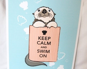 Otter Keep Calm Print - 8x10 Eco-friendly Size