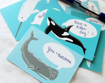 Convo Whale Notecards - Eco-friendly Set of 6