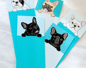 Frenchie Bookmarks - Eco-friendly Set of 5